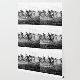 Motocross black white Wallpaper