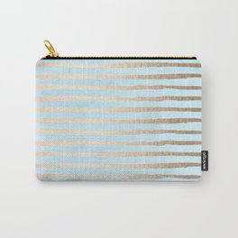 Abstract Stripes Gold Tropical Ocean Sea Turquoise Carry-All Pouch