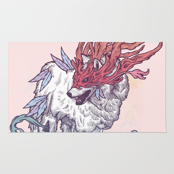 Spirit Animal - Wolf Rug
