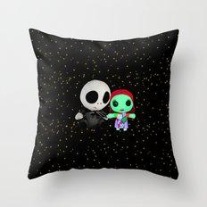 Halloween Babies   Jack   Sally   Christmas   Nightmare Throw Pillow