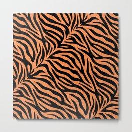 Modern tiger skin illustration pattern - lovely animal print hand drawn Metal Print