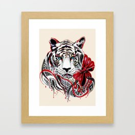 White Tiger Framed Art Print