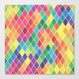 Watercolor Geometric Pattern II Canvas Print