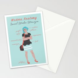 Modern Anatomy: Social Media Manager Stationery Cards