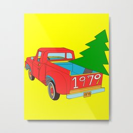 Vintage Pick up Truck 1979 Grafititee Illustration Vector Metal Print