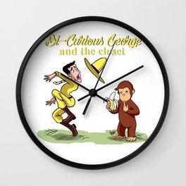 Bi-Curious George Wall Clock