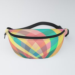 In the circus, colorful pastel shapes Fanny Pack