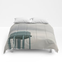 Blue Water Tower Comforters