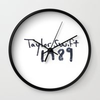 1989 Wall Clocks featuring TS 1989 by swiftstore
