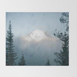 Mount Rainier VIII Throw Blanket