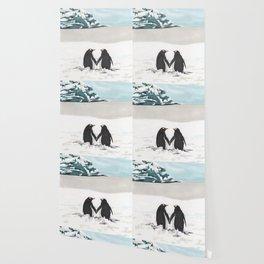 Penguins in love Wallpaper
