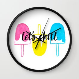 Let's Chill Popsicles Wall Clock