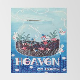 Heaven On Earth Throw Blanket