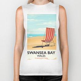Swansea Bay Wales Seaside poster Biker Tank