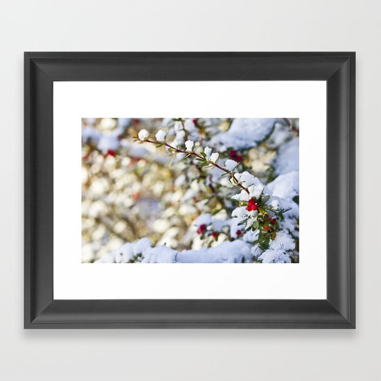 Sweet winter Framed Art Print