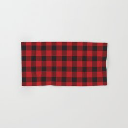 Buffalo Check - black / red Hand & Bath Towel