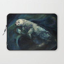 Polar Bear Swimming in Northern Lights Laptop Sleeve