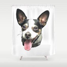Ledge Dog Shower Curtain