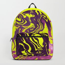 Yellow, Purple and Pink Intertwine; Fluid Abstract 50 Backpack