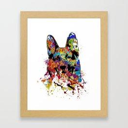 German Shepherd Dog  - GSD Framed Art Print