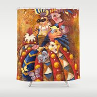 carnival Shower Curtains featuring carnival by Elena Trupak