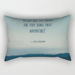 blessed are the curious ... Rectangular Pillow