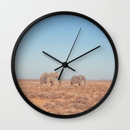 Elephants in South Africa Wall Clock