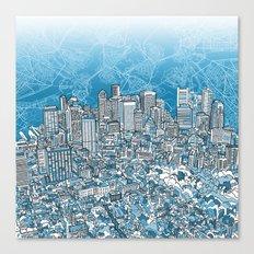 boston city skyline Canvas Print
