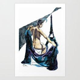 Black Pearl of Paris Art Print