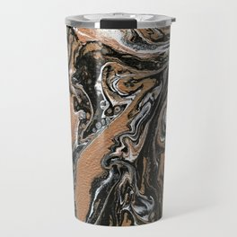 Fluid Gold - Abstract, acrylic, art painting Travel Mug