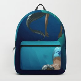 Mermaid with large scales Backpack