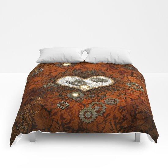 Steampunk, wonderful heart Comforters