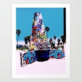 Venice Beach Graffiti Art Print