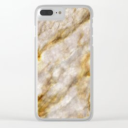 Gold Streaked Marble Clear iPhone Case