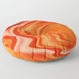Pouring red sea Floor Pillow
