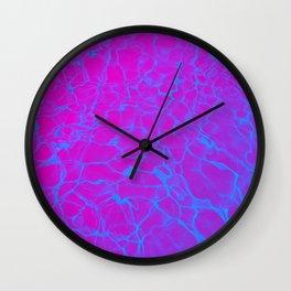 Aquatic Magenta Wall Clock