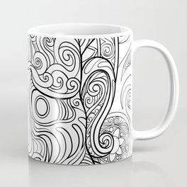 Intricate Demon Mask Coffee Mug