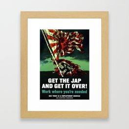 Work Where You're Needed -- World War 2 Framed Art Print