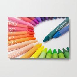 Crayon Rainbow Metal Print