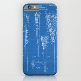 Lacrosse Stick Patent - Lacrosse Player Art - Blueprint iPhone Case