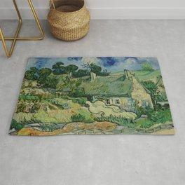 """Vincent van Gogh """"Thatched Cottages at Cordeville"""" Rug"""
