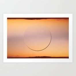 sunset. Art Print
