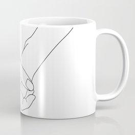 Hands line drawing illustration - Lala Coffee Mug