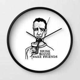 Drink Booze, Make Friends Wall Clock