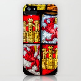 Lion Castle coat of arms red yellow iPhone Case