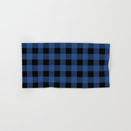 Buffalo Plaid Blue Black Lumberjack Pattern Hand & Bath Towel