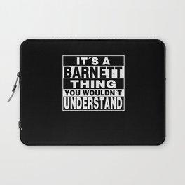 BARNETT Surname Personalized Gift Laptop Sleeve