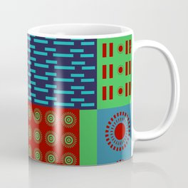 Japanese Style Colorful Patchwork Coffee Mug