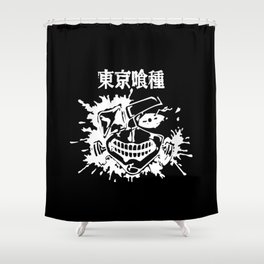 Kaneki Mask Shower Curtain