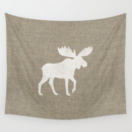 Moose Silhouette Wall Tapestry